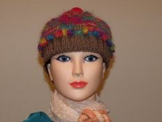Hand Knit Child Size Cupcake Hat by MadMadameHatter on Etsy