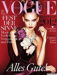 Best Cover Magazine - Karlie Kloss Covers Vogue Germany December 2011 in Ralph Lauren - CoDesign Magazine Vogue Magazine Covers, Fashion Magazine Cover, Cool Magazine, Fashion Cover, Vogue Covers, Covet Fashion, Fashion Models, Magazine Wall, Fashion News