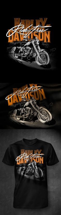 Set of designs comision for Harley Davidson.