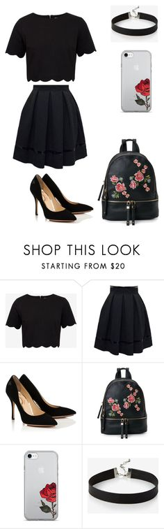 """""""black......"""" by caitlinkansil on Polyvore featuring Ted Baker, Tamara Mellon, Urban Expressions and Express"""