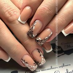 Wedding Nails-A Guide To The Perfect Manicure – Page 8724554500 – NaiLovely French Tip Nail Designs, French Nail Art, Nail Art Designs, Coffin Nails, Acrylic Nails, Turquoise Nail Designs, Finger, Cool Nail Art, Wedding Nails