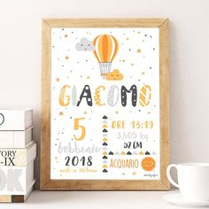 Personalized digital picture with baby name-birth gift idea-souvenir Poster child-birth picture-Birth Gift Button Family Picture, Family Picture Frames, Baby Name Art, Name Wall Art, Birth Pictures, Name Canvas, Inspirational Quotes Wallpapers, Wall Stickers Animals, Baby Posters