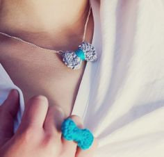 Knitted Jewelry by Emmanuelle Esther #girly #handmade