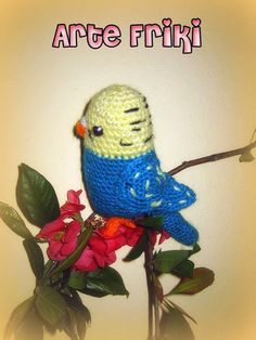 periquito amigurumi crochet ganchillo muñeco peluche pájaro