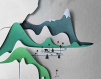 Vertical landscape by Eiko Ojala, via Behance