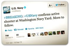 Navy reports news of shooter in real-time on Twitter