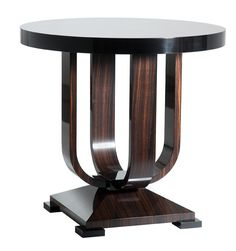 DAVIDSON London - The Miller Table in Macassar Ebony with Ebonised detail