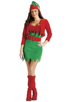elfalicious sexy elf christmas costume item size smallmedium measurementschest unstretched stretched waist from top of shoulder strap to bottom - Best Christmas Costumes