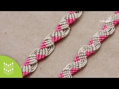 Macrame Pink: Friendship band // Pulseira Tutorial (In spanish but easy to follow)