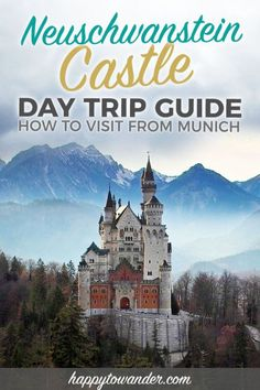 The best and most detailed guide to visiting Neuschwanstein Castle from Munich, with tips on how to skip the line at Neuschwanstein, beautiful Neuschwanstein photography and other must-knows for this day trip from Munich, Germany. Europe Travel Guide, Travel Guides, Travel Destinations, Travel Abroad, Holiday Destinations, Trains, Neuschwanstein Castle, Excursion, Munich Germany