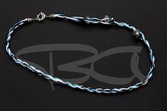 12* cordone intreccio azzurro con inserti cristallo simil pandora