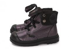 Chaussures Palladium Baggy Zip Bébé mauve vue intérieure