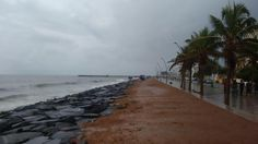Beach on a rainy day #pondicherry Image by https://www.facebook.com/roystone.fernandez … Use #MyPYpic to have your pics featured by us