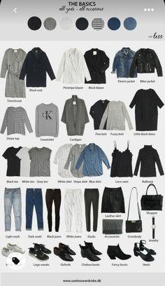 Fall Capsule Wardrobe, Capsule Outfits, Fashion Capsule, New Wardrobe, Mode Outfits, Fashion Outfits, Womens Fashion, Wardrobe Basics, Closet Basics