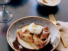 Plum Cake with Hazelnut Brittle and Honey Mascarpone