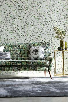 Gorgeous Chaconia by Harlequin in the emerald and lime colour way.