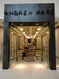 Andrew Marc Storefront completed with Hot-Rolled Steel Panels