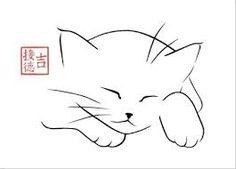 Image result for dessins de chats au crayon