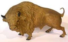 Metal Buffalo Sculpture