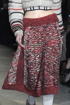 This is a skirt I would wear! And that is saying a lot. (Missoni, F/W 2010 detail)