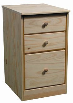 Need More Space Add This 3 Drawer Pedestal Get The Hardware You And Unfinished FurnitureModular HomesOffice