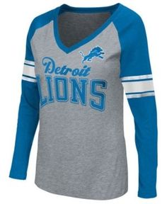 G-iii Sports Women's Detroit Lions In the Zone Long Sleeve T-Shirt - Blue S