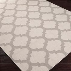 Neutral, Beige, Gray, White, Cream - Shades of Light quatrefoil rug