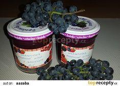Marmeláda z hroznového vina recept - TopRecepty. Preserving Food, Preserves, Nutella, Mason Jars, Smoothie, Pudding, Desserts, Gardening, Marmalade