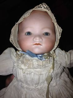 Vintage Armand Marseille doll in christening gown 341/2 on Etsy, $425.00