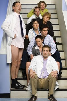 "Green Wing was a British ""medical"" drama that ran from and was a mixture of comedy, bizarre soap opera and pure absurdity that would make Scrubs … Comedy Tv, Comedy Show, Tamsin Greig, Gentleman, Green Wing, Medical Drama, British Comedy, Tv On The Radio, Best Shows Ever"
