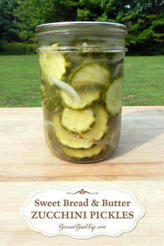 Sweet Bread & Butter Zucchini Pickles - Plus more ways to preserve zucchini.