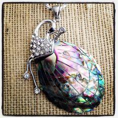 Abalone Shell Peacock Pendant