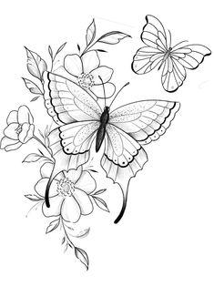 Diamond Tattoo Designs, Gemini Tattoo Designs, Floral Tattoo Design, Flower Tattoo Designs, Black Line Tattoo, Line Tattoos, Black Tattoos, Sleeve Tattoos, Flower Tattoo Drawings