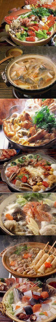 Japanese hot pots - nabe