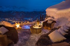 Chalet Trois Couronnes Ski Chalet, Verbier Chalet, Alpine Chalet, Chalet Style, Chalet Design, Jacuzzi Outdoor, Outdoor Fire, Boutique Hotels, Swiss Alps