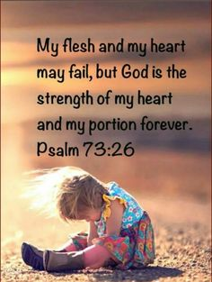 I may fail but God is there He will be my strength.