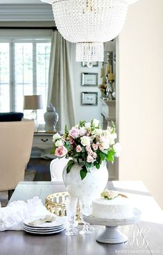Transitional Kitchen Nook Remodel - Styled for Spring, tip to decorate your kitchen for spring, coconut cake recipe with fresh roses