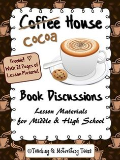 Here's a freebie for my English teacher friends! This is a lesson that not only do students get involved in, but it will also create a lasting memory. Just copy the sheets, add the cocoa, and you'll be sure to ignite your students' interest in discussing their novels. Fun and engaging literary analysis, interpretation, and synthesis activity - for individual preparation work, then small group sharing.  I hope you and your students enjoy! And don't forget the marshmallows. :)