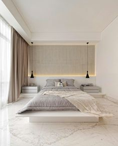 Top Minimalist Bedroom Interior Design Ideas For Your Inspiration - Introduce elegance, style, tradition and comfort in your bedroom with antique furniture. Refurbish your old recliners and bed sets and use them in you. Interior Design, Minimalist Bedroom Design, Home Room Design, Minimalist Bedroom, Home, Modern Master Bedroom, Simple Bedroom, Modern Bedroom, Luxurious Bedrooms