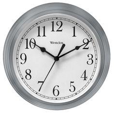 Westclox 9 Inch Gray Wall Clock