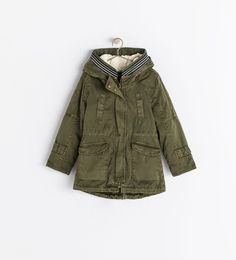 Image 1 of PARKA WITH REMOVABLE FLEECE from Zara