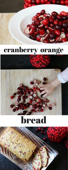 easy cranberry orange bread // holiday recipes
