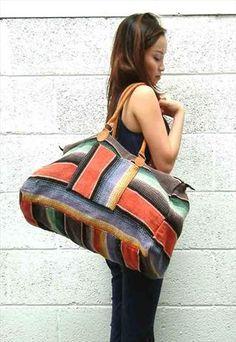 Vintage holdal bag in navajo style