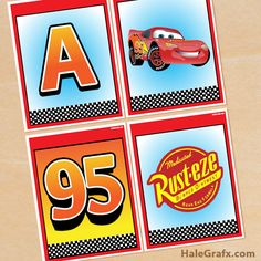 Click here to download a FREE Printable Disney Cars Alphabet Banner Pack!