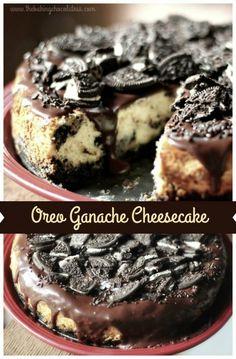 The Baking ChocolaTess | Oreo Chocolate Ganache Cheesecake | http://www.thebakingchocolatess.com