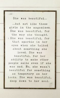 I want this in my little girls bedroom! LOVE!!!! She was beautiful sign | girls bedroom sign | modern farmhouse bedroom decor | distressed shabby chic plaque | wooden wall decor | farmhouse nursery decor | rustic decor | kids room art #ad