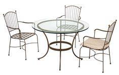 Rattan, Outdoor Tables, Outdoor Decor, Outdoor Furniture, Railings, Base, Home Decor, Gardening, Iron Decor