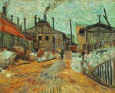 The Factory At Asnieres Vincent Van Gogh Reproduction | 1st Art Gallery