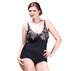 2db75fe0381 Sexy One Piece Swimsuit 2016 Hot Vintage Plus Size Swimwear Women Noble  Loops Beach Bodysuit Look Slim Print Halter Bathing Suit