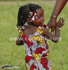 Girl is going to a party with her mam, Benin
